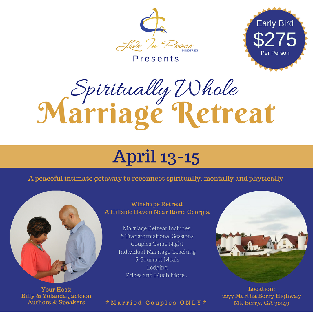 Spiritually whole marriage retreat 2018 for How to plan a couples retreat